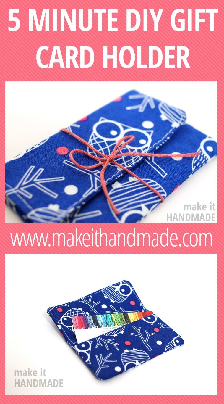 Make It Handmade Gift Card Holders In 5 Minutes