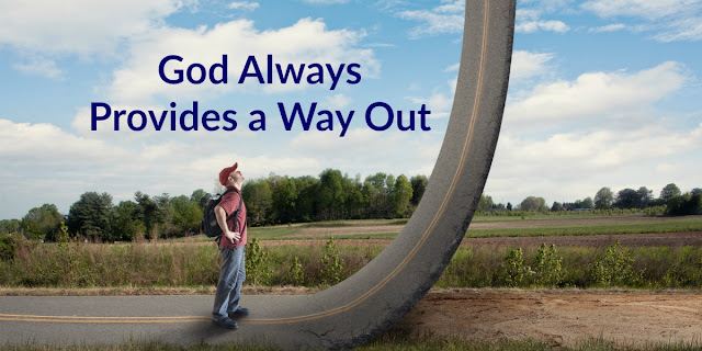 God provides a way out when we follow these 4 steps