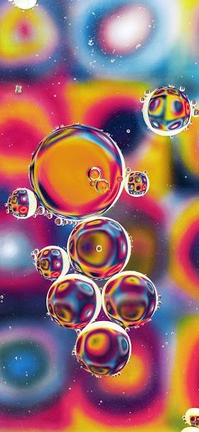 خلفية فقاعات هوائية ملونة في الهواء