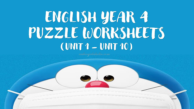 English Year 4 - Puzzle Worksheets