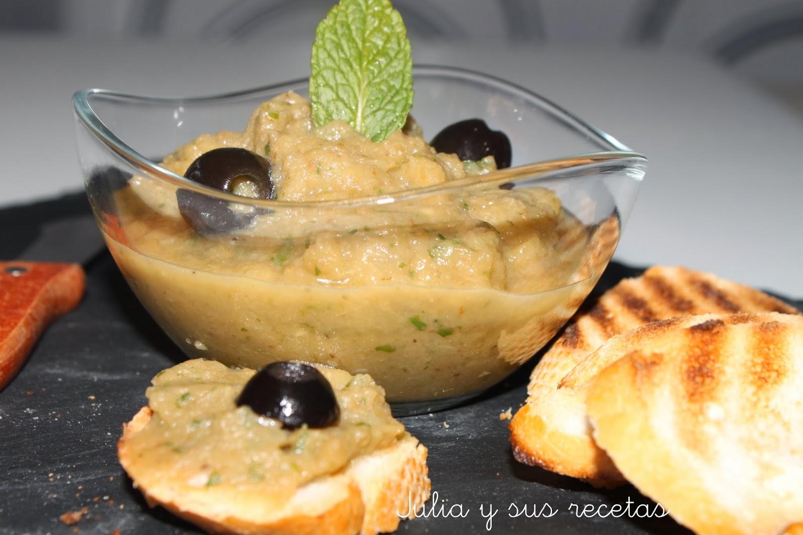 Paté de berenjenas griego. Julia y sus recetas