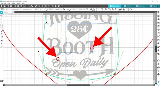 warp tool, silhouette studio, cameo 4, designer edition, gridlines