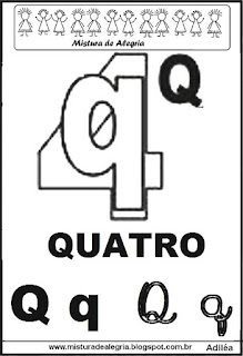 Alfabeto ilustrado letra Q