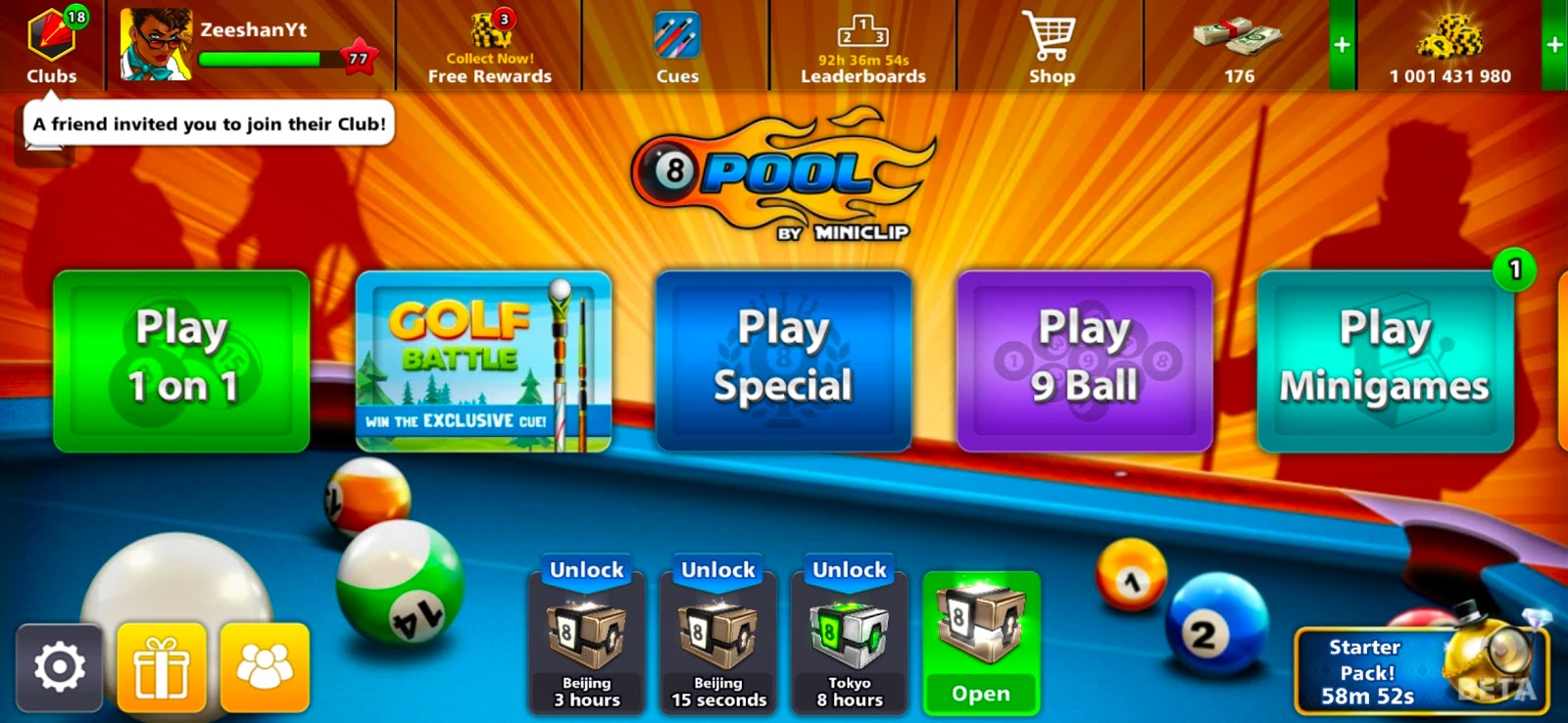 FREE 1 Billion Coins & 175 Cash in 8 Ball Pool Hack 2019