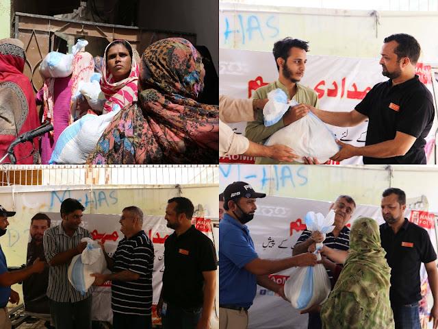 Hamid Ismail Foundation Conducted a Ration Drive in Shanti Nagar Amidst the Coronavirus Lockdown
