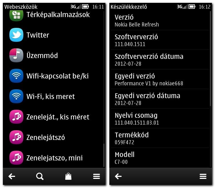 Nokia c7 live messenger.