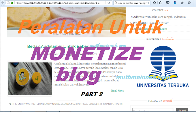 Peralatan Untuk Monetize Blog Part 2