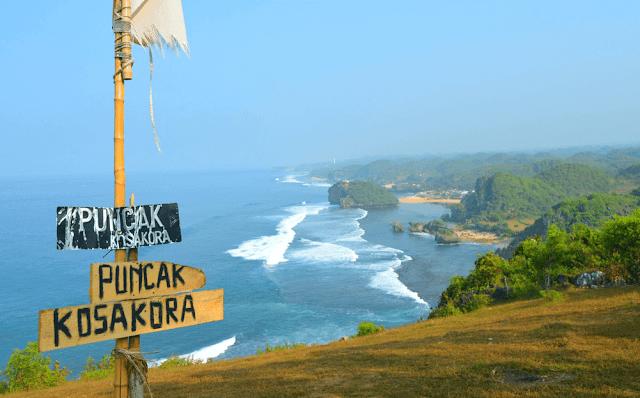 Harga Tiket dan Rute Lokasi Bukit Kosakora Gunungkidul Yogyakarta