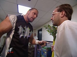 WWE / WWF - Fully Loaded 2000 -  Triple H confronts Harvey Wippleman after Wippleman kept bringing Steph flowers from Chris Jericho