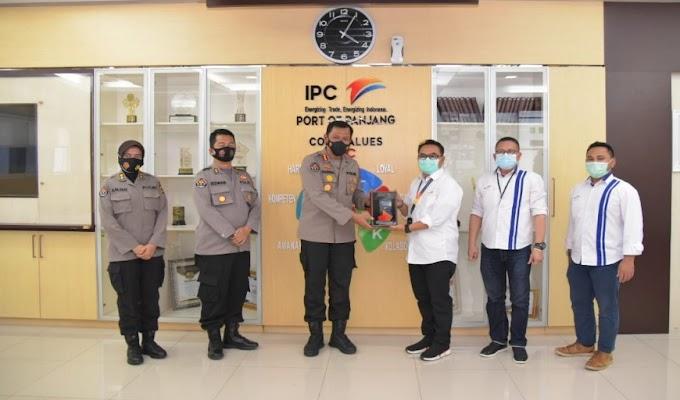 Kabid Humas Polda Lampung Kunjungi Indonesia Port Corporation (IPC) PT Pelabuhan Indonesia Panjang