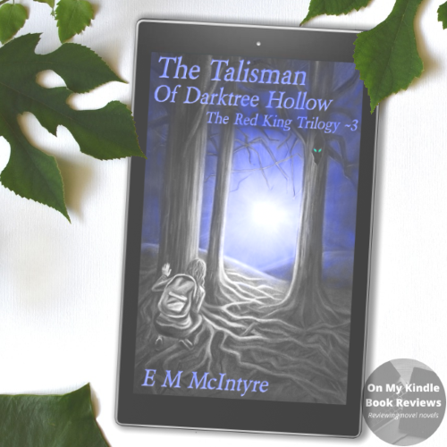 Front cover image of THE TALISMAN OF DARKTREE HOLLOW on Kindle device. Image by On My Kindle Book Reviews.