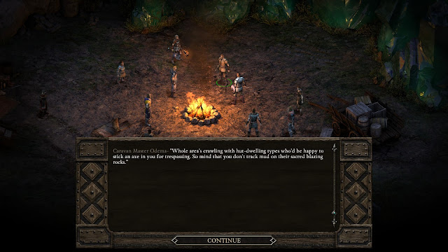 Screenshot from opening scene in Pillars of Eternity