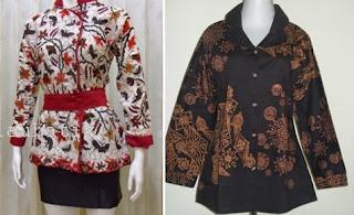 model baju batik atasan wanita gemuk untuk pesta
