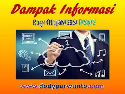 Dampak Informasi Bagi Organisasi Bisnis