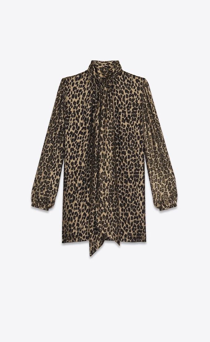 Blusa lazada leopardo Yves Saint Laurent