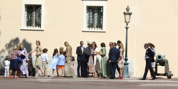 Pierre Casiraghi and Beatrice Borromeo married in a civil ceremony at the Monaco's Pink Palace in Monaco