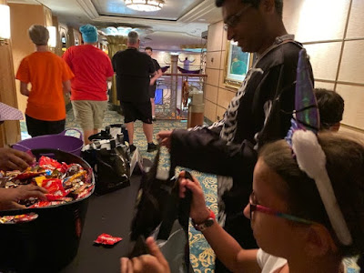 Disney cruise Halloween on the High Seas trick or treating