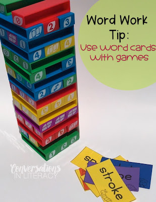 Using Uno Stack Game in the Classroom for Word Work Literacy Center Activities