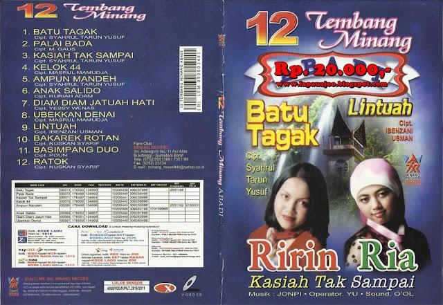 Ririn & Ria - Kasiah Tak Sampai (Album 12 Tembang Minang Abadi)