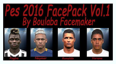 PES 2016 Face Pack Vol. 1 By Boulbaba Facemaker