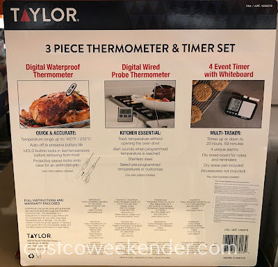Costco 1050279 - Taylor 3-piece Thermometer & Timer Set: great for any home chef