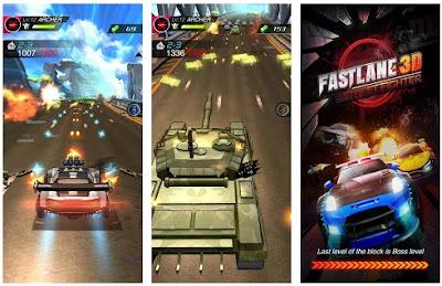تحميل لعبة السباق و الأكشن Fastlane 3D مهكرة للأندرويد آخر إصدار