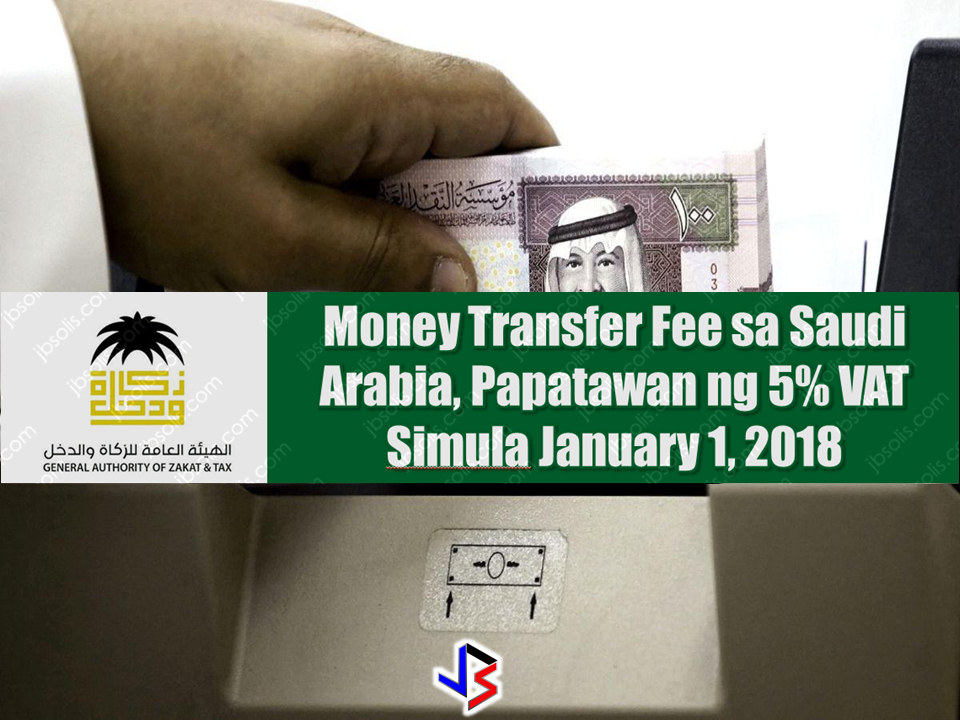 Money transfer charges will increase from Jan. 1 as 5% Value Added Tax (VAT) will be levied on money transfer fees, according to the General Authority of Zakat and Tax (GAZT), which is responsible for managing the implementation, administration and enforcement of VAT in Saudi Arabia in close coordination with other relevant entities. Advertisements  The 5% VAT will be on the money transfer fee and not on the transfer amount, GAZT clarified, adding that VAT will be paid by the person sending money. However, many financial services will be exempt from VAT. These include several transactions and services such as interest on loans, lending fees charged with an implicit margin such as loans and credit cards, mortgages, financial leasing, transactions involving money and securities, as well as current, deposit and savings accounts. Other exempted services include life insurance policies. Registered businesses conducting economic activities are subject to VAT, but registered businesses conducting VAT-exempted economic activities are not entitled to deduct VAT. Sponsored Links The nature of economic activities will determine whether VAT should be levied on these or not. House rent and medicines are among some of the facilities and commodities exempted from Value Added Tax (VAT). VAT will be implemented in the Kingdom from Jan. 1 2018. No VAT will be levied on passport and driving license issuance and renewal fees. No VAT will apply on exports to countries outside the Gulf Cooperation Council, services given to non-residents of GCC countries, international transport services for goods and passengers, import of spare parts of qualified means of international transport and their maintenance, repair and modifications. Source: Saudi Gazzete Money transfer charges will increase from Jan. 1 as 5% Value Added Tax (VAT) will be levied on money transfer fees, according to the General Authority of Zakat and Tax (GAZT), which is responsible for managing the implementation, administration and enforcement of VAT in Saudi Arabia in close coordination with other relevant entities. Advertisements  The 5% VAT will be on the money transfer fee and not on the transfer amount, GAZT clarified, adding that VAT will be paid by the person sending money. However, many financial services will be exempt from VAT. These include several transactions and services such as interest on loans, lending fees charged with an implicit margin such as loans and credit cards, mortgages, financial leasing, transactions involving money and securities, as well as current, deposit and savings accounts. Other exempted services include life insurance policies.  Registered businesses conducting economic activities are subject to VAT, but registered businesses conducting VAT-exempted economic activities are not entitled to deduct VAT. Sponsored Links The nature of economic activities will determine whether VAT should be levied on these or not. House rent and medicines are among some of the facilities and commodities exempted from Value Added Tax (VAT). VAT will be implemented in the Kingdom from Jan. 1 2018. No VAT will be levied on passport and driving license issuance and renewal fees. No VAT will apply on exports to countries outside the Gulf Cooperation Council, services given to non-residents of GCC countries, international transport services for goods and passengers, import of spare parts of qualified means of international transport and their maintenance, repair and modifications. Source: Saudi Gazzete