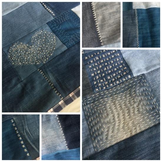 maguiandmi diy, costura, jeans, reciclaje, facil, tejano, manta, patchwork, sashiko, handmade