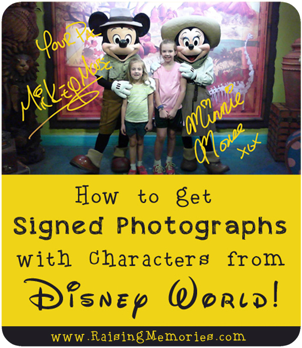 Get Disney Character Meet and Greet Photos Signed
