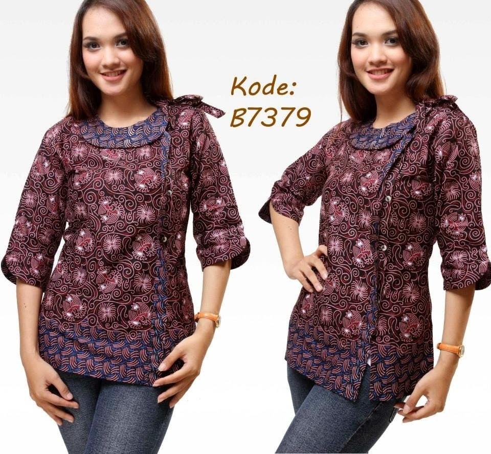 Kemeja Batik Mega Mendung Wanita: 10 Model Baju Batik Kantor Wanita Kombinasi, Eksotis