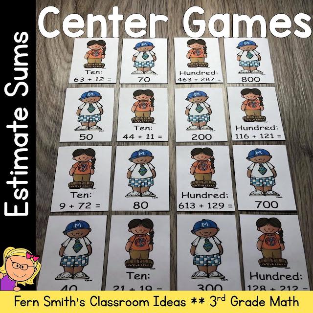 Estimate Sums Center Game
