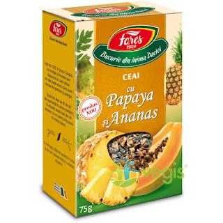 Ceai cu Papaya si Ananas se poate cumpara direct de aici