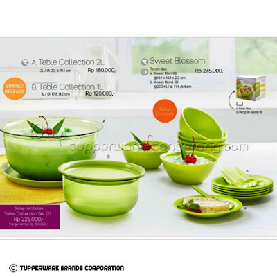 Table Collection & Sweet Blossom ~ Katalog Tupperware Promo Juni 2016