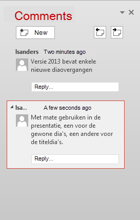 Powerpoint Comments : powerpoint, comments, Luc's, PowerPoint, Blog:, 2013-9, Comments