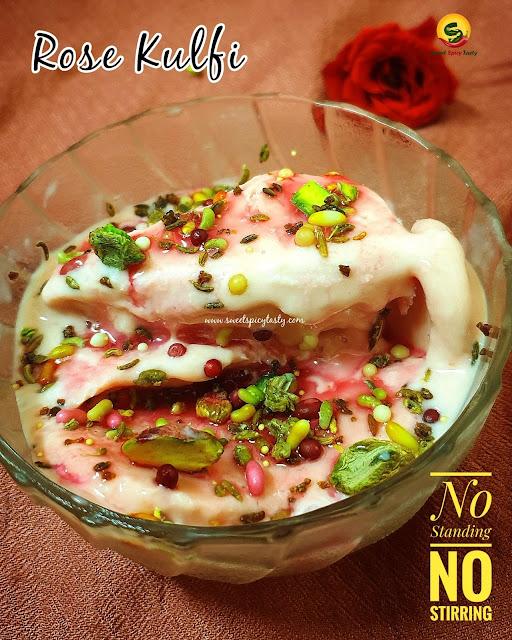 Microwave rose kulfi , easy kulfi recipe , how to make kulfi in 10 mins , कुल्फी,  रोस कुल्फी,  easy kulfi recipe, घर बैठे बनाए मज़ेदार कुल्फी