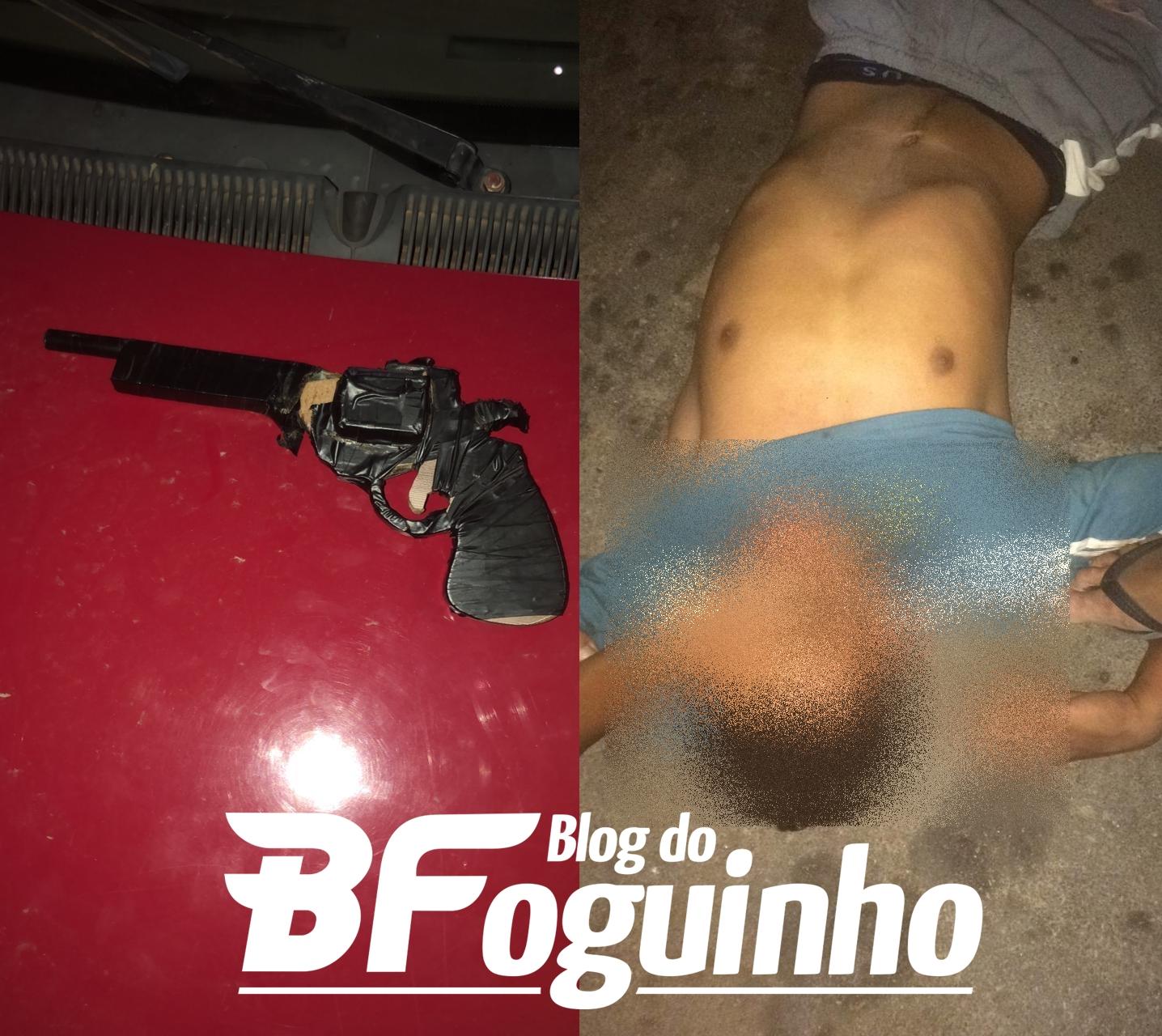 Ladrão leva surra no meio da rua após tentativa de assalto com arma de brinquedo em Chapadinha