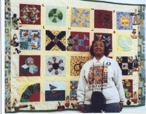 This is the last quilt my mother Serena Wilson Strother made with me, Mildred Washington & Susie who did piecing for my mother on some of her quilt tops. It will be at the Delta Arts Center's Raw Edges Quilt Exhibit with other Quilts made by African-American textile artists on display.