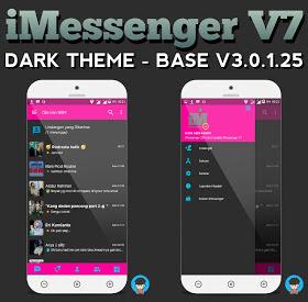 BBM MOD Tema iMessenger v7 Dark Theme v3.0.1.25 APK Terbaru 2016 Gratis