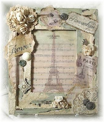 Quadretto vintage ispirato a parigi