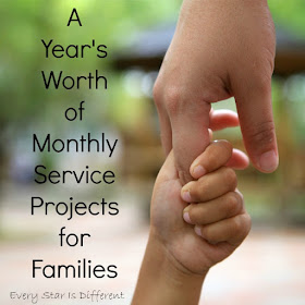 A year's worth of monthly service projects for families.