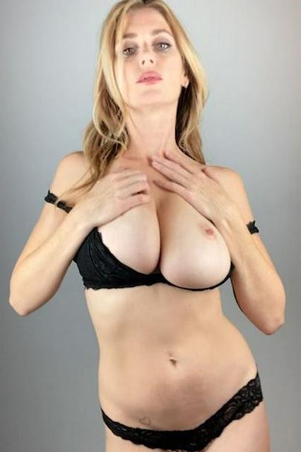 Busty Celebrity Tits Topless Woman Nblack Underwear 6