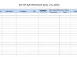 Format Daftar Buku Pegangan Guru dan Siswa Buku Kerja Guru 3