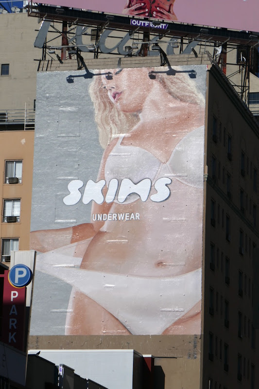 Skims underwear wall mural ad Hollywood
