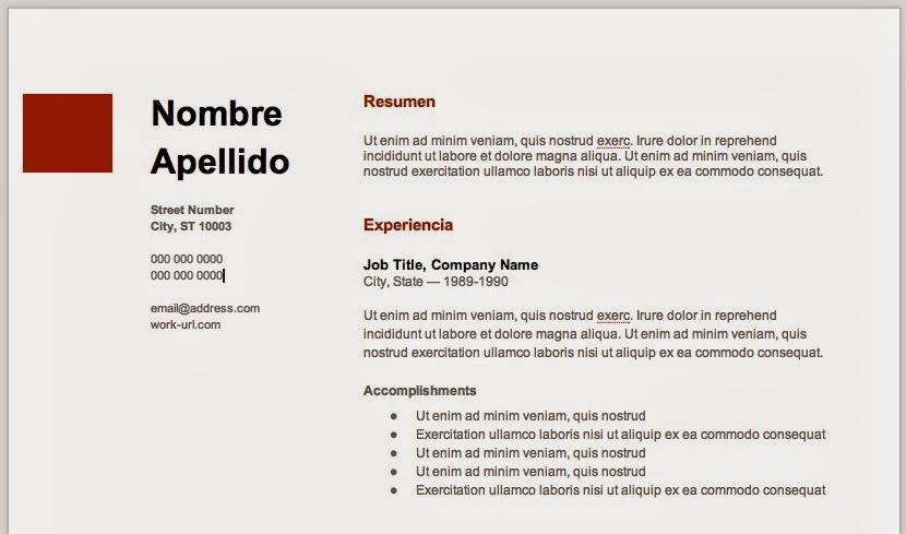 Myhaus Blog Tecnologia Y Estilo De Vida Crea Tu Curriculum Vitae