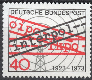 Germany 1973 50th anniversary of Interpol