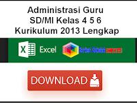 Administrasi Guru SD/MI Kelas 4 5 6 Kurikulum 2013 Lengkap