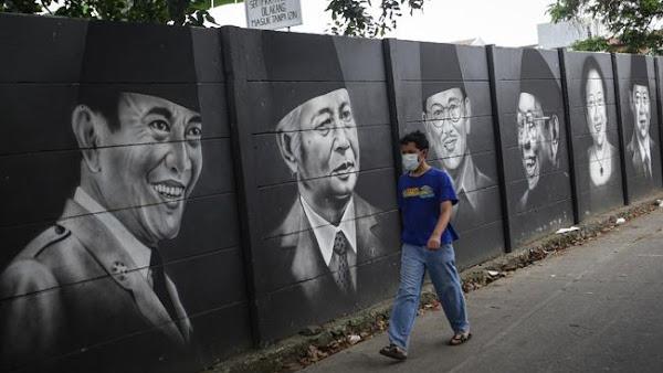 mural presiden anti koropsi