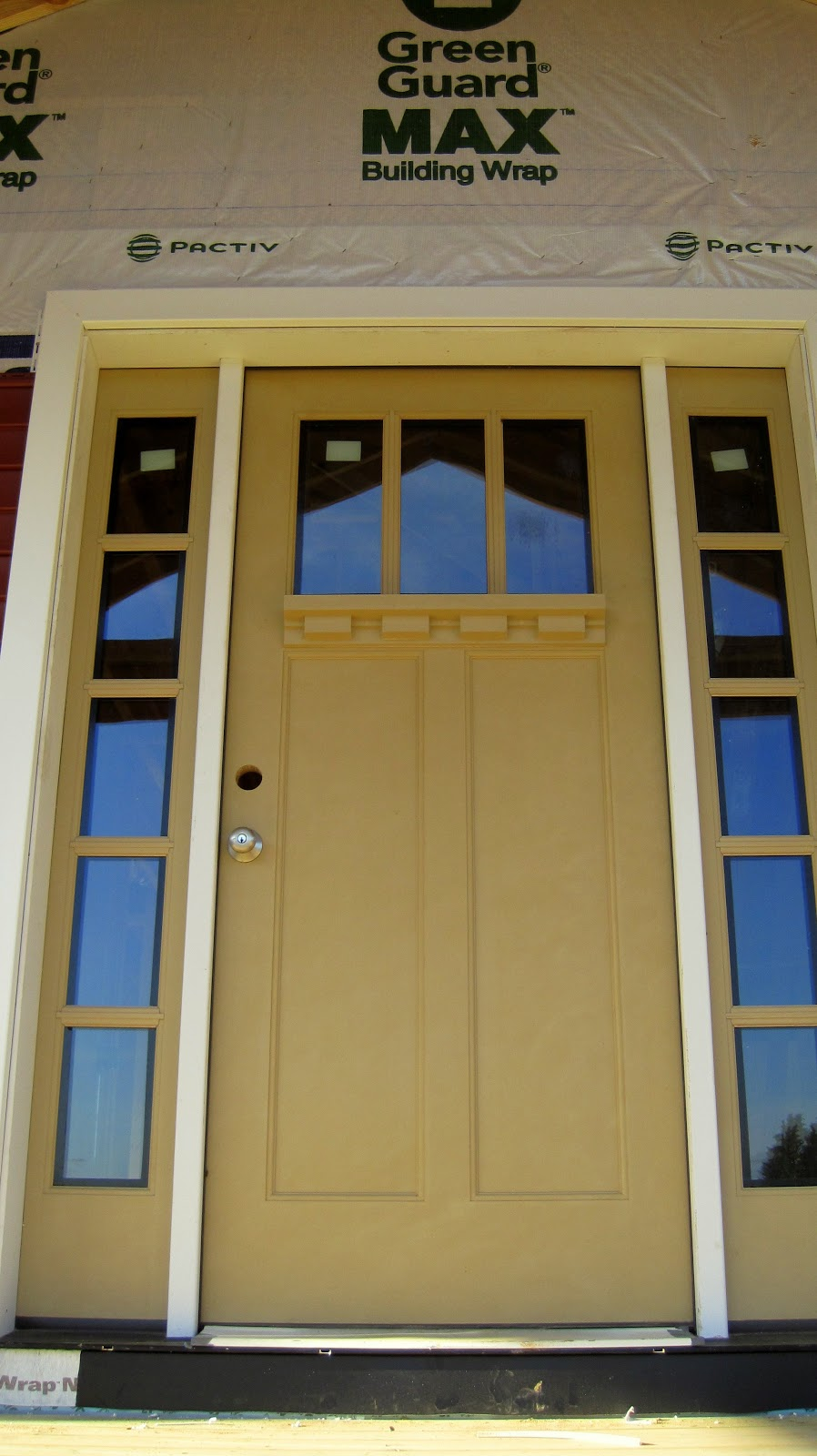 I married a tree hugger oil rubbed bronze for our doors for Kitchen entrance door designs