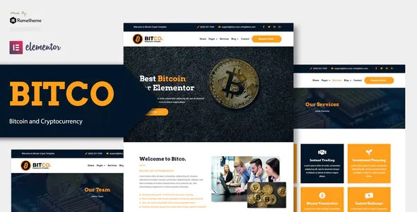 Best Bitcoin and Cryptocurrency Elementor Template Kit