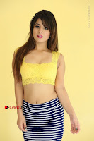 Cute Telugu Actress Shunaya Solanki High Definition Spicy Pos in Yellow Top and Skirt  0109.JPG